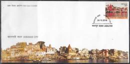 INDIA 2016, FDC, Varanasi City,, Jabalpur Cancelled. - FDC