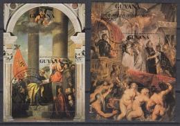 GUYANA Bloc 56-57 (0) – TITIANO & RUBENS  – Paintings (1990) - Guyane (1966-...)