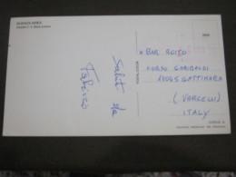 AM5 METER STAMP AFFR. MECCANICA - ARGENTINA 1985 VILLA ELISA CARD BUENOS AIRES ESTADIO STADIO BOCA JUNIOR Leggera Piega - Argentina