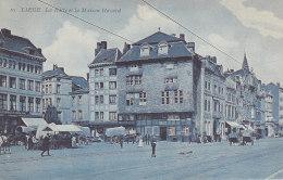 Liège - La Batte Et La Maison Havard (animée, Marché, 1912) - Liege