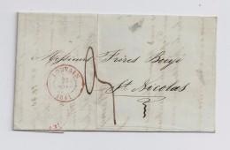 BELGIE - BELGIQUE  -  LOUVAIN 1841 Naar St -Nicolas - Rémy Frères - 1830-1849 (Belgique Indépendante)