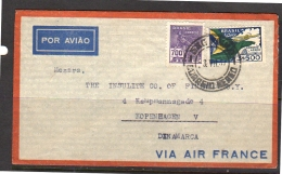 1937 Stal Telles & Co Rua Libero Badaro Sao Paulo > Kopenhagen Kampmannsgade 4 (b33) - Covers & Documents