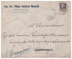 Grimaldi. 1928. Annullo Frazionario (21 - 67) Su Lettera - 1900-44 Victor Emmanuel III