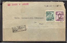 R-cover ŁAŃCUT Sad Grodzki W ŁAŃCUcie  1939 > Kiel Landgerichts Präsident (p52) - 1919-1939 Republik