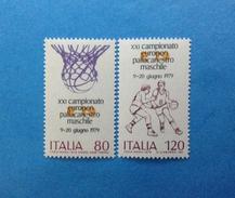 1979 ITALIA FRANCOBOLLI NUOVI STAMPS NEW MNH** - CAMPIONATO EUROPEO PALLACANESTRO MASCHILE - - 6. 1946-.. Repubblica