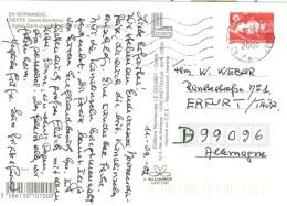 Frankreich Le Touduet Paris Plage TGST 2002 Marianne - Poststempel (Briefe)