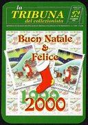 ITALIA 2000 - CALENDARIO TASCABILE - LA TRIBUNA DEL COLLEZIONISTA - BUON NATALE 1999 E FELICE 2000 - Calendari