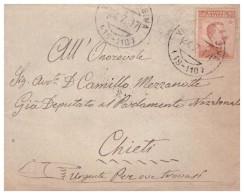 Villalfonsina. 1917. Annullo Frazionario ( 19 - 110 ) Su Lettera. - Poststempel