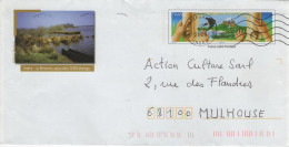 PAP Entier Postal Charte De L´environnement : Hirondelle Main Cascade Cachet CHATEAUROUX La Brenne 1000 étangs - PAP: Sonstige (1995-...)