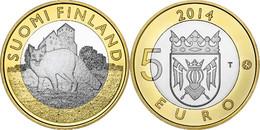 """FINLANDIA / FINLAND  5€  2.014  2014  BIMETALICA  SC/UNC   """"ZORRO - FOX""""   T-DL-11.886 - Finland"""