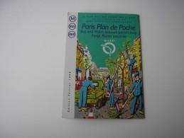 PLAN DE POCHE RATP * PARIS AUTOBUS + METRO + RER * EDITION FEVRIER 1999 - Europe
