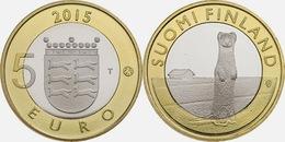 """FINLANDIA / FINLAND  5€  2.015  2015  BIMETALICA  SC/UNC   """"OSTROBOTHNIA""""   T-DL-11.887 - Finland"""