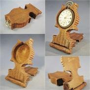 * PORTE MONTRE A GOUSSET SOUVENIR DE DREUX # Horlogerie Sculpture Art Populaire - Horloge: Zakhorloge