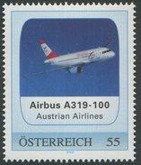 ÖSTERREICH / PM Airbus A319-100 - Austrian Airlines / Postfrisch / ** / MNH - Private Stamps