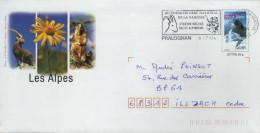 PAP Entier Postal MONT BLANC : Flamme PRALOGNAN Parc Vanoise Ski Alpinisme Alpes Bouquetin 1 - PAP: Sonstige (1995-...)