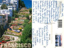 Lombard Street, San Francisco, California, United States US Postcard Posted 2009 Stamp - San Francisco