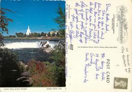 Latter Day Saints Temple, Idaho Falls, Idaho, United States US Postcard Posted 1980s Stamp - Idaho Falls