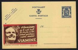 BELGIQUE - PHARMACIE - SANTE - VITAMINES / ENTIER POSTAL PUBLICITAIRE ILLUSTRE - PUBLIBEL # 488 (ref E269) - Enteros Postales