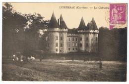 LUBERSAC    Vaches Devant Le Chateau   1936 - France