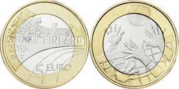 """FINLANDIA / FINLAND  5€  2.015  2015  BIMETALICA  SC/UNC   """"VOLEYBALL""""   T-DL-11.889 - Finlande"""