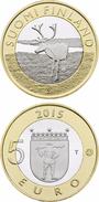 """FINLANDIA / FINLAND  5€  2.015  2015  BIMETALICA  SC/UNC   """"LAPLAND LAPONIA RENO""""   T-DL-11.890 - Finlandía"""
