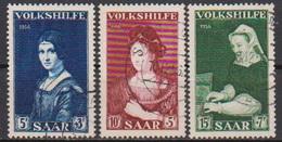 Saarland1956 MiNr.376 - 378  O Gest Volkshilfe Gemälde ( 3853 )  Günstige Versandkosten - 1947-56 Occupation Alliée