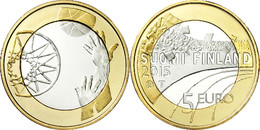 """FINLANDIA / FINLAND  5€  2.015  2015  BIMETALICA  SC/UNC   """"BASKETBALL - BALONCESTO""""   T-DL-11.891 - Finland"""