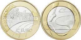 "FINLANDIA / FINLAND  5€  2.015  2015  BIMETALICA  SC/UNC   ""GYMNASIA""   T-DL-11.892 - Finlande"