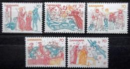 Denmark 1973     Cz.Slania    MiNr.550-554  MNH (**) Kalkmalereien /murals /Peintures Murales ( Lot  B 521 ) - Ongebruikt