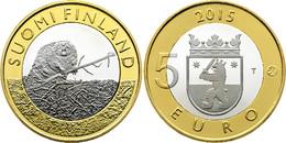 """FINLANDIA / FINLAND  5€  2.015  2015  BIMETALICA  SC/UNC   """"Satakunta - Castor""""   T-DL-11.895 - Finland"""