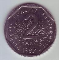 2 Francs Semeuse Nickel - 1987 - SUP/SPL - I. 2 Francs