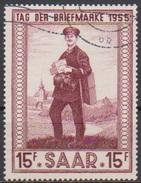 Saarland1955 MiNr.361  O Gest Tag Der Briefmarke ( 3863 ) - 1947-56 Occupation Alliée
