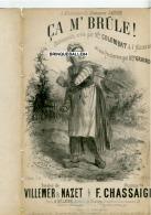 PARTITION XIX CAF CONC COQUIN MILITARIA ÇA M´BRÛLE VILLEMER NAZET CHASSAIGNE 1872 ILL CUISINIER COLOMBAT LAGIER LGBT - Autres