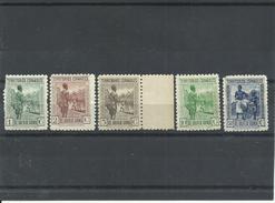 GUINEA  EDIFIL 244,245 246,247,250  MH  * - Guinea Spagnola