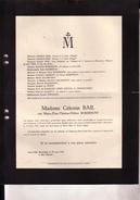 COURTRAI SAINT-GILLES Maria-Elisa ROSSEEUW épouse Célestin BAIL 1846-1930 Famille à Tirlemont - Décès