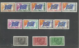 FRANCIA CONSEIL DE L'EUROPE- UNESCO SIN CHARNELA (K-Nº12.C.11.16) - Sonstige