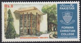2014 Pakistan Sesquicentennial Forman Christian College, Education, Architecture (1v) MNH (PK-98)