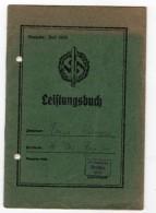 WWII - III° REICH - LEISTUNGSBUCH -S.A  SPORT ABZEICHENS - N.S.D.A.P - 1935- ORIGINAL - 1939-45