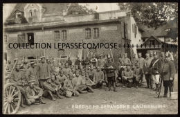 TOP - LAUBAN POLOGNE - VUE INEDITE DU CAMP DE PRISONNIERS DE GUERRE ET SOLDATS RUSSES EN 1914 - Guerre 1914-18