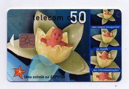"""Scheda Telefonica Prepagata """"Portugal Telecom (Portogallo) - Expo 98 - Validità 02.1998 -  Usata - (FDC927) - Portogallo"""