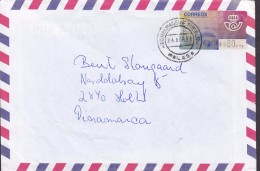 Spain Air Mail Aereo MALAGA 1996 Cover Letra HOLTE Denmark EMA Frama Label Franking - Poststempel - Freistempel