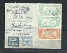 Paraguay Brief Einschreiben , Buntfranktur , Vorder U. Rückseite , Nach Hildesheim 1935 - Paraguay