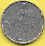 1 Franc 1939 - Luxembourg
