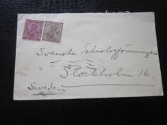 1928 Hôtel Taj-Mahal Bombay Grande-Bretagne(ex-colonie Protectorat)Inde India Entier Postaux Georges V --Stockholm Suède - 1911-35 King George V