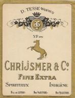 D. TESSE-WERVICQ - CHRIJSMER &CO - SPIRITUEUX - Etiquettes