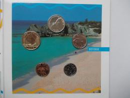 - BERMUDES - Coffret De 5 Monnaies 1993 - - Bermudes