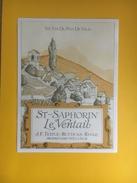 2336 - Suisse Vaud St-Saphorin Le Ventail Testuz-Butticaz Rivaz - Etiquettes