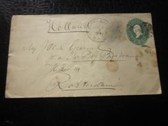 1891 Timbres > Amérique >Palatka &..  États-Unis > Entiers Postaux > Enveloppes Timbrées > ...-1900=> Rotterdam Hollande