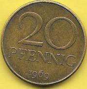 20 PFENNIG Alu 1969 - [ 6] 1949-1990 : GDR - German Dem. Rep.
