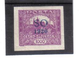 BAU1303 TSCHECHOSLOWAKEI OBERSCHLESIEN 1920 MICHL  25 (*) FALZ Siehe ABBILDUNG - Tschechoslowakei/CSSR